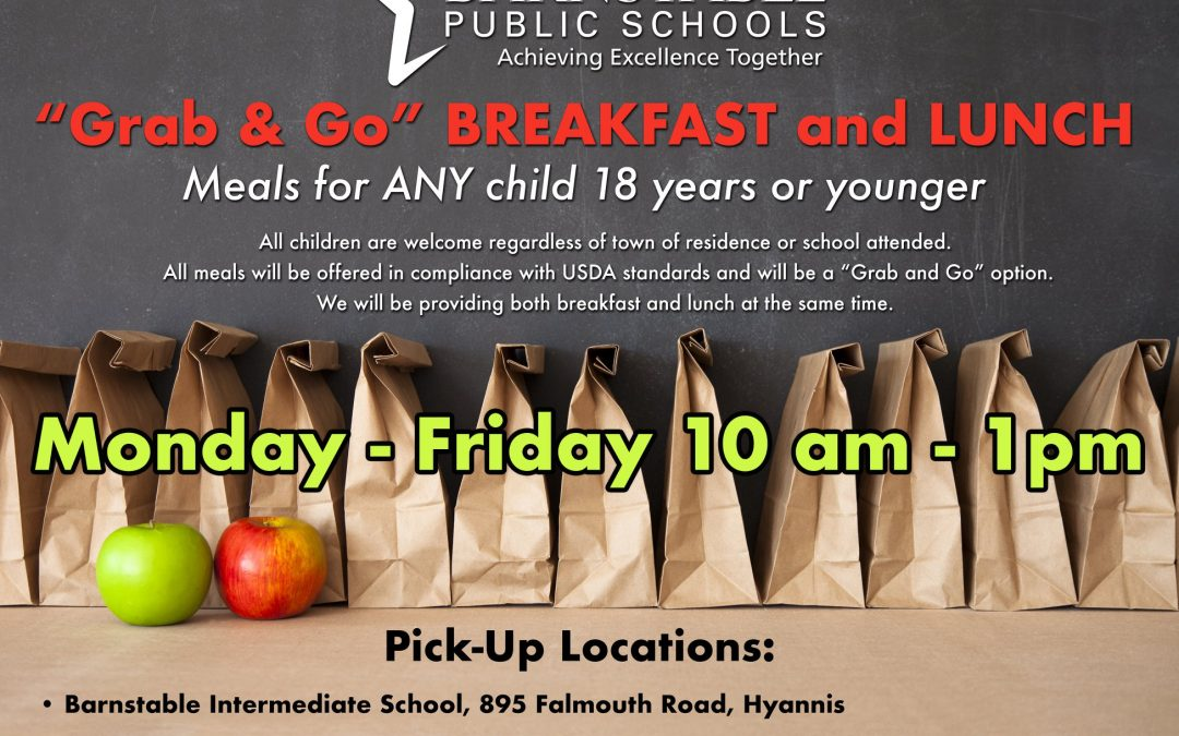 Barnstable Public Schools provides 'grab & go' meals at four sites