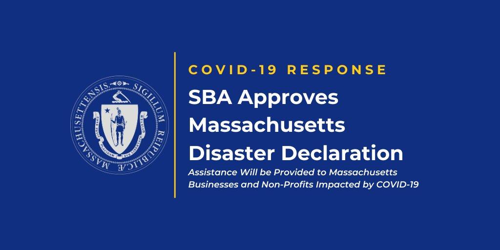 SBA Approves Massachusetts Disaster Declaration
