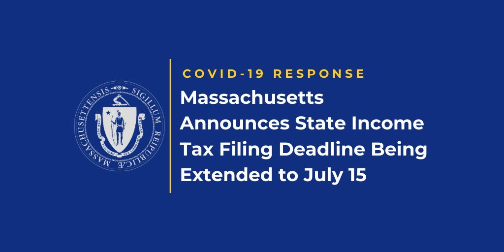 Massachusetts Announces State Income Tax Filing Deadline Being Extended to July 15