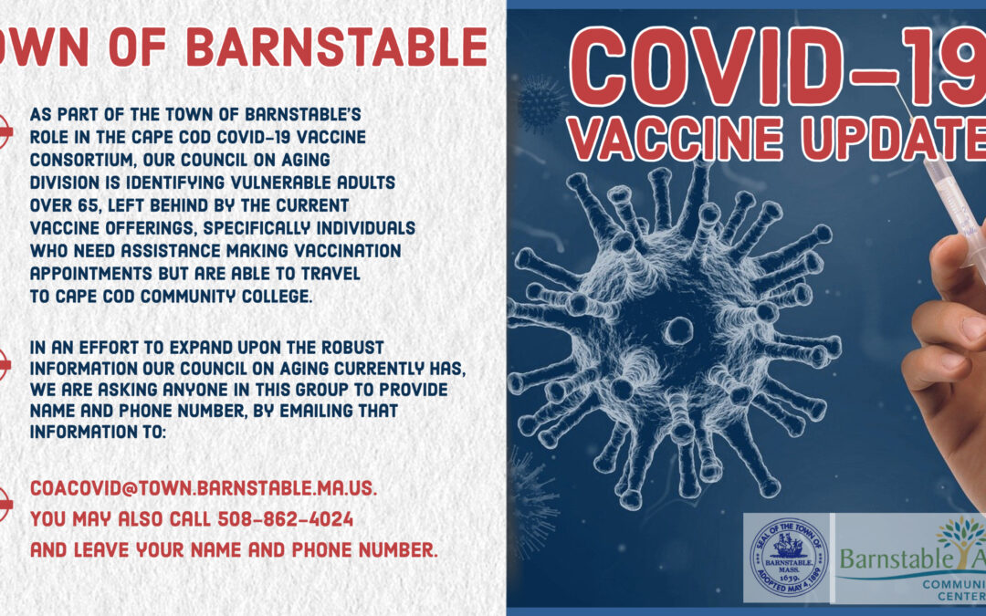 IMPORTANT COVID-19 UPDATE FOR  BARNSTABLE RESIDENTS +65